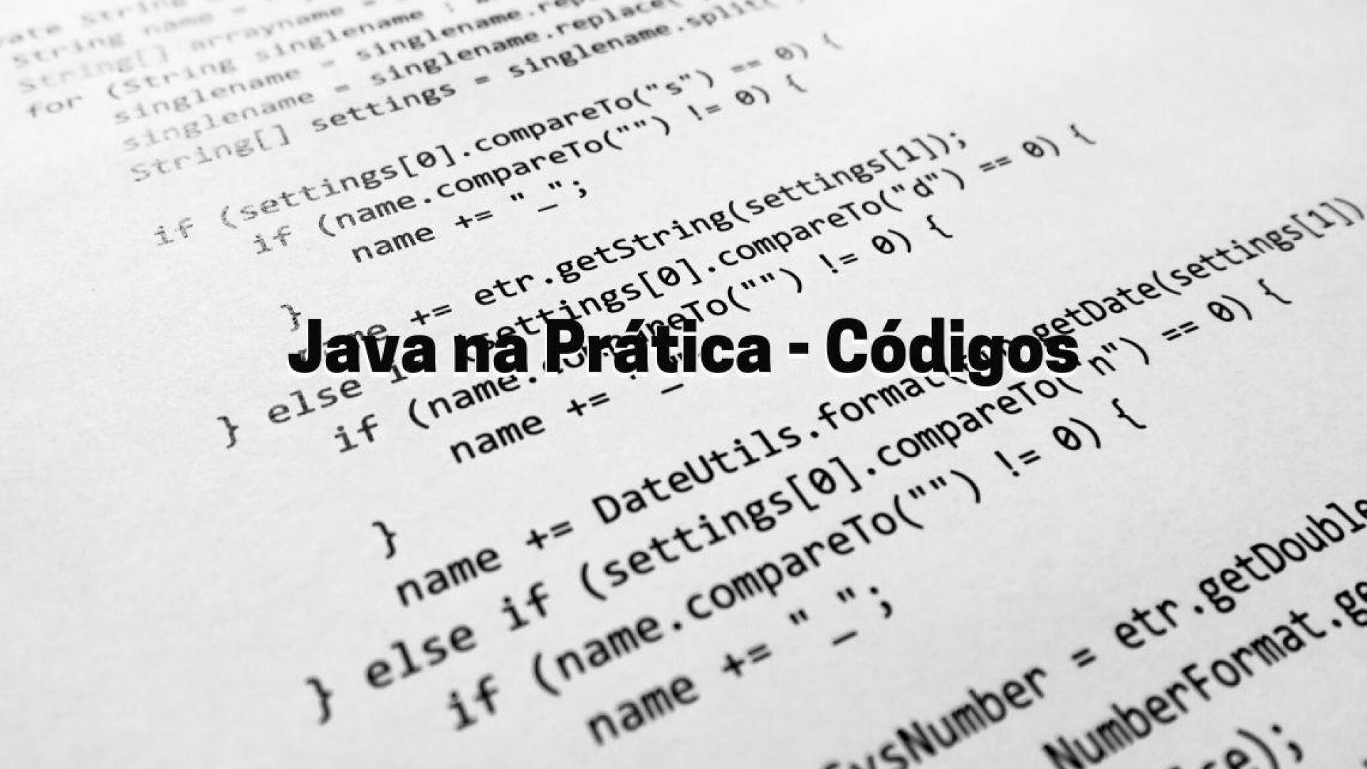 Java na Prática - Códigos